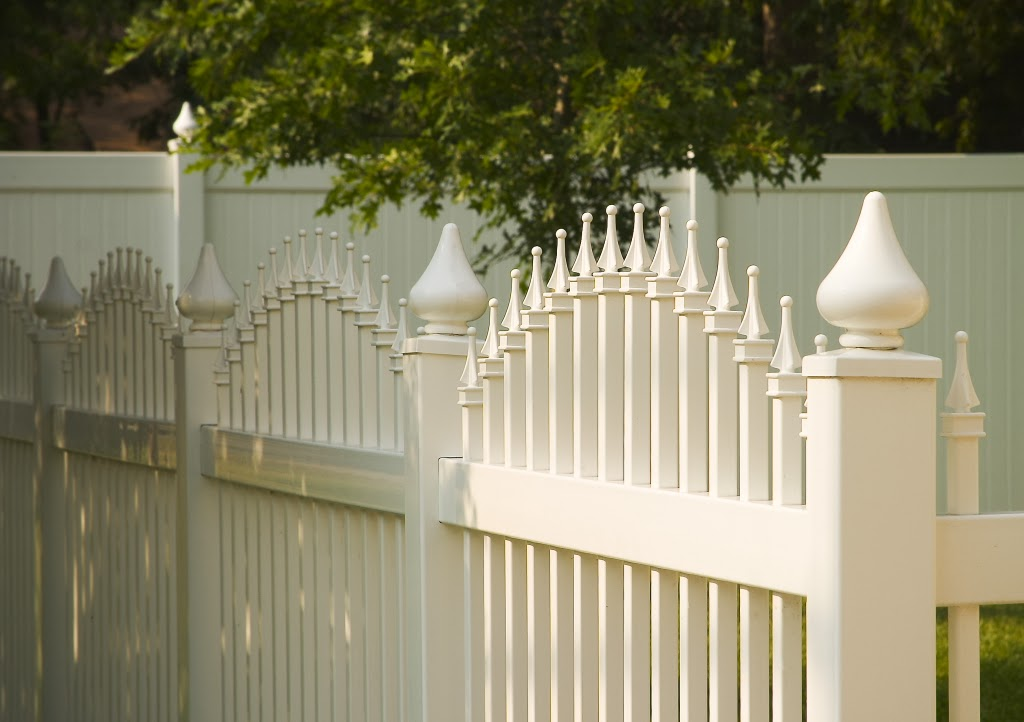 White Vinyl Ornamental Fence