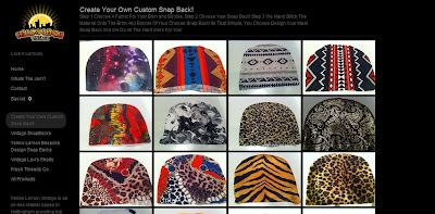 Design your own snap back - Yellow Moon - iloveankara.blogspot.co.uk