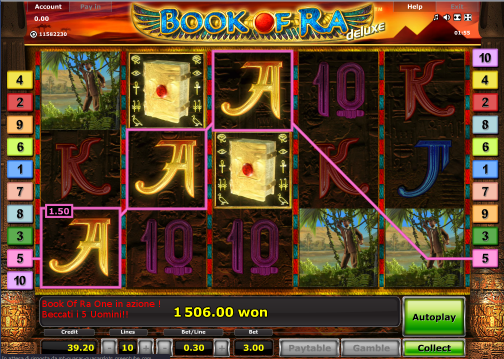 casino online list free book of ra download