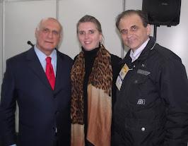 Airton Engster dos Santos, senador Lasier Marntins e Carine Schwingel