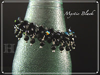 Mystic Black Swarovski Crochet Bangle