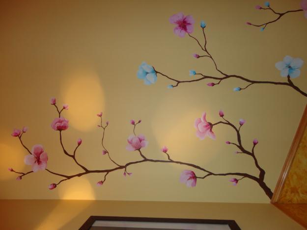 Paint house quer taro dise os de arboles decorativos para - Murales de pared pintados a mano ...