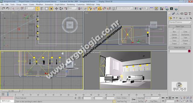 Desain Interior Ruang Tamu Spot Light by Argajogja