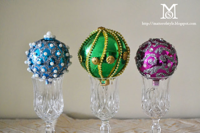 fabergé eggs, diy christmas, diy ornaments