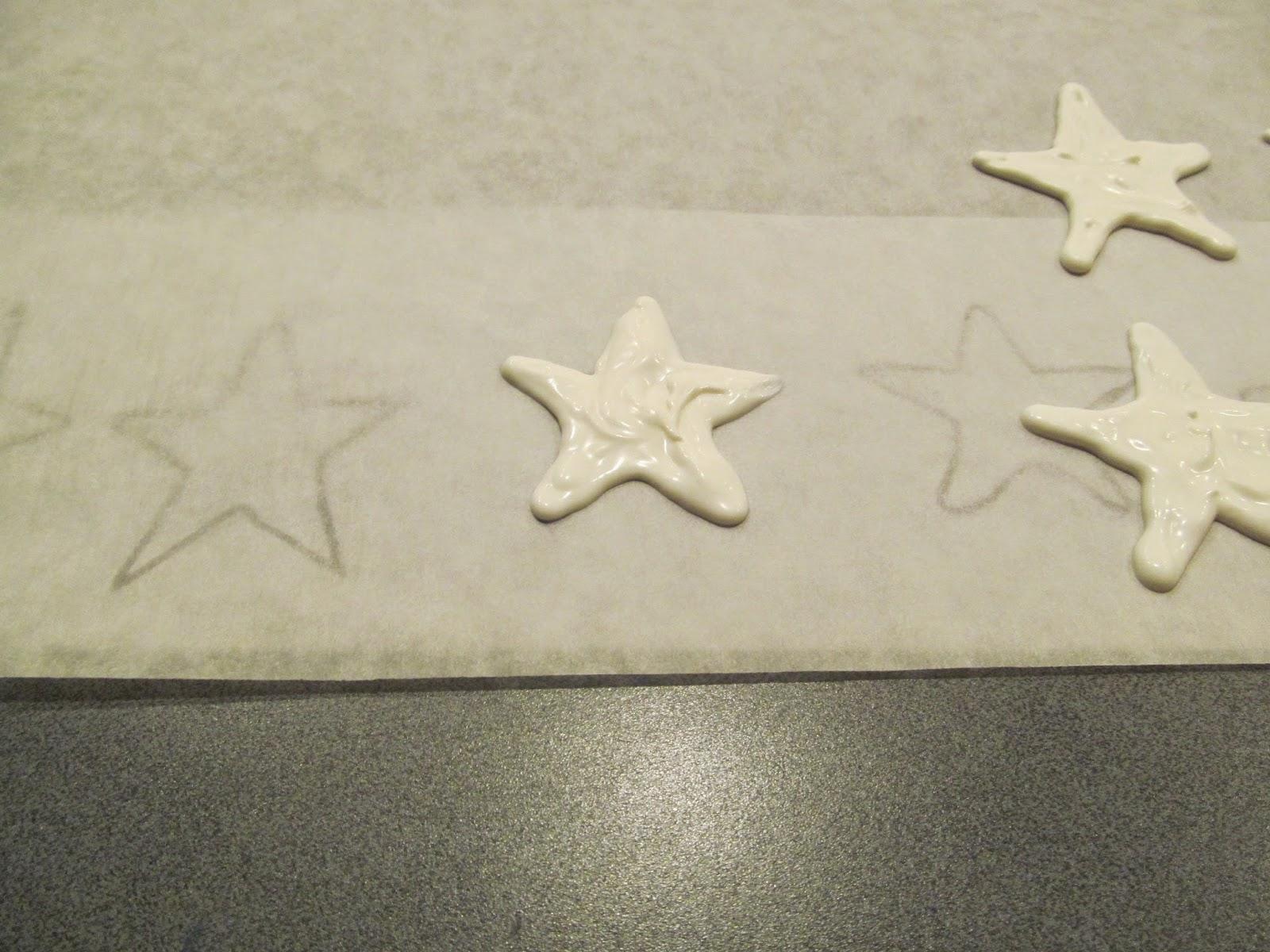 making white edible stars