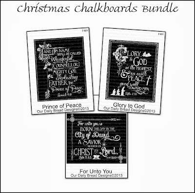 Stamps - Our Daily Bread Designs Christmas Chalkboards Bundle