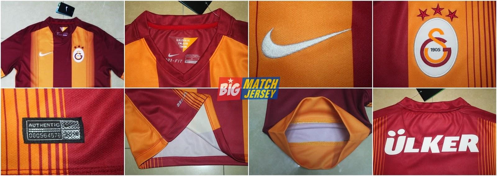 Detail Kaos dan Jersey Bola GO liga Turki Galatasaray Home Season 2014-2015