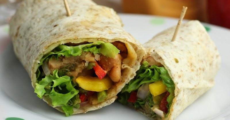 IndianVegKitchen: Roasted Veggie & Bean Sandwich Wrap   Healthy ...