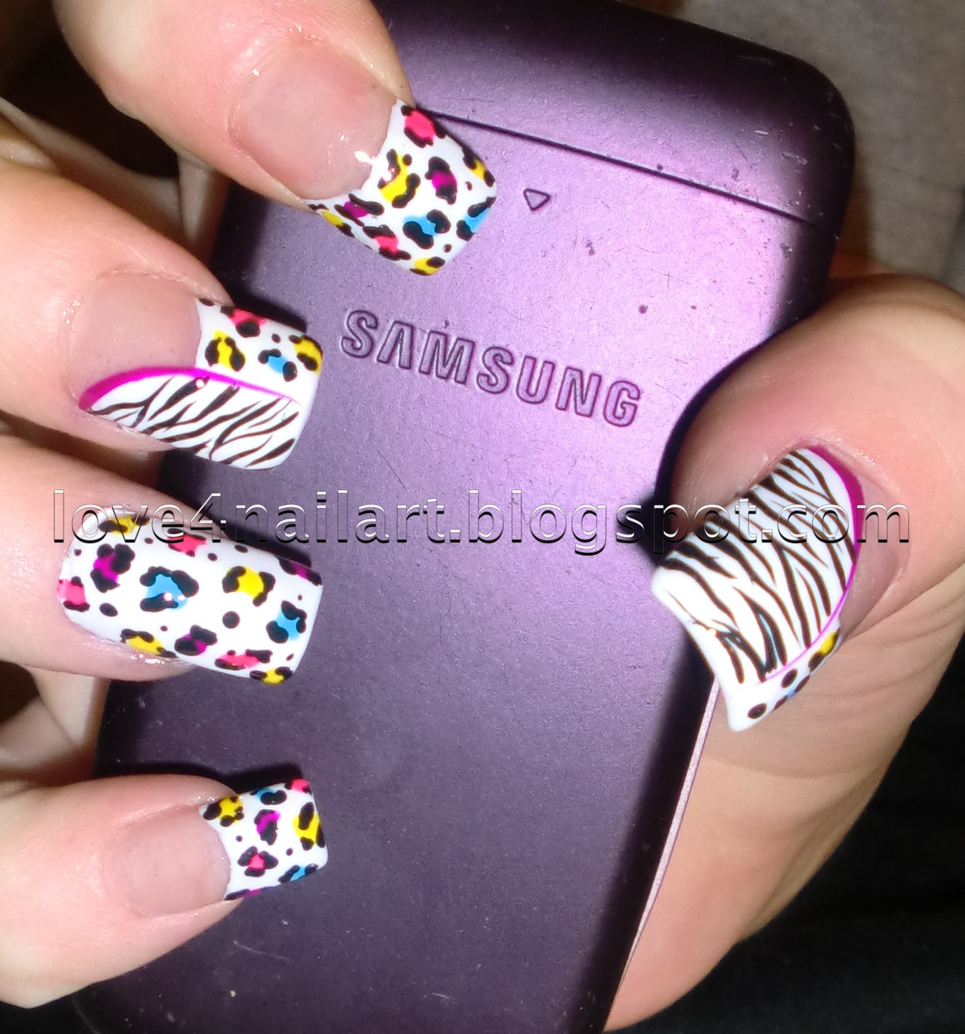 91 Leopard Nail Art Step By Step Red Leopard Nails Art With