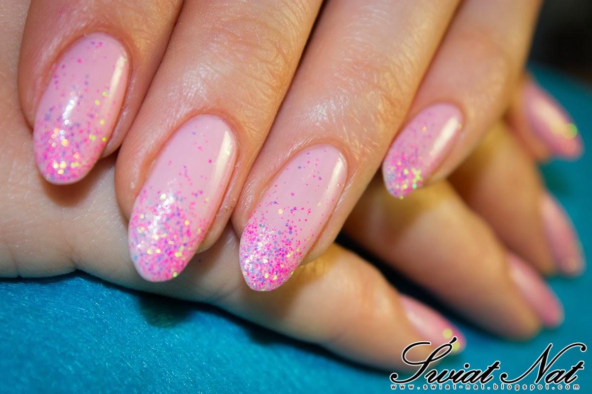 mani manicure nails paznokcie brokat