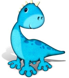 Funny cartoon baby dinosaur