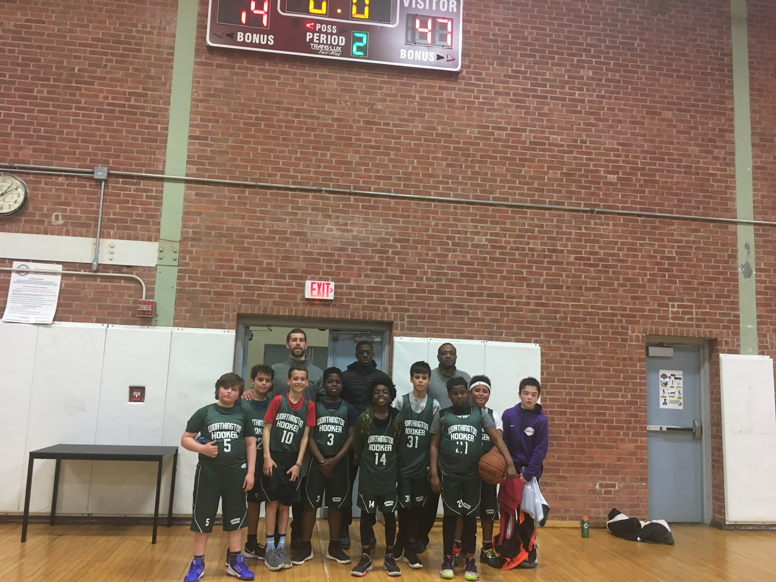 WHBA Grades 5-6 Team in City League, 2019-20