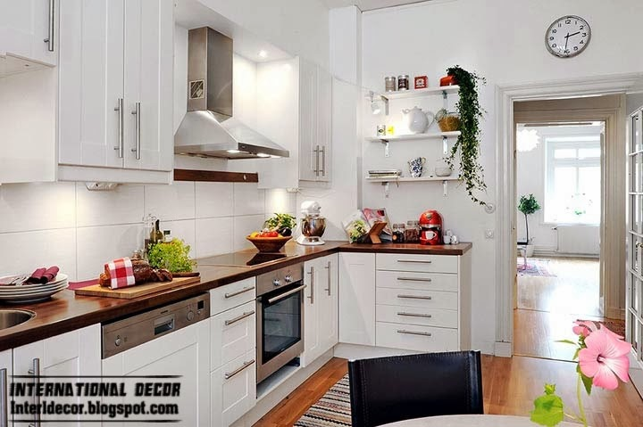 Scandinavian style kitchen, large kitchen designs