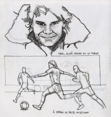 Nadal, sketch a lápiz