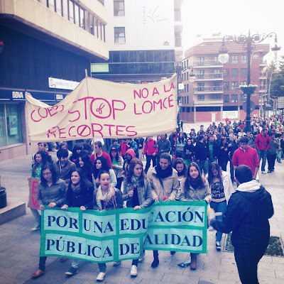 una de las imagenes de la multitudinaria manifestación