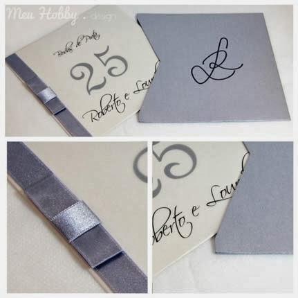 convites de bodas de prata para a festa