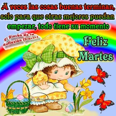 tarjetas de feliz martes y saludos