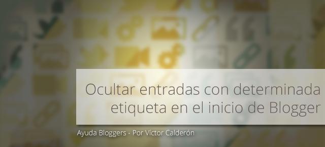 blogger, etiquetas, pagina inicio, homepage