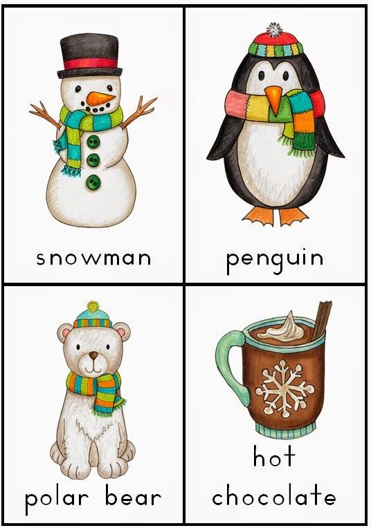 Making and Writing Winter Sentences for Kindergarten {vocab & sentence work}