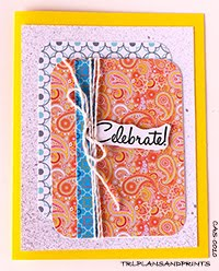 RETRO 70s - HIP PAISLEY GREETING CARDS
