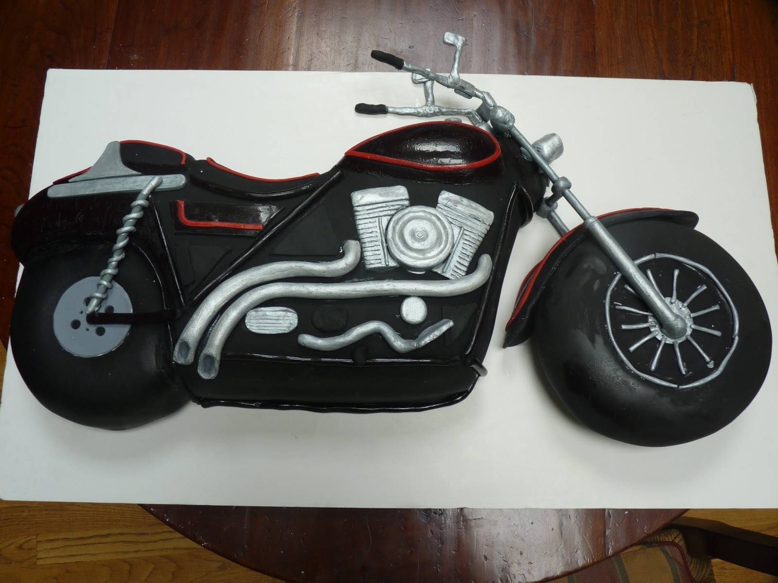 Motorbike birthday cake template yahoo party invitations ideas for Motorbike template for cake