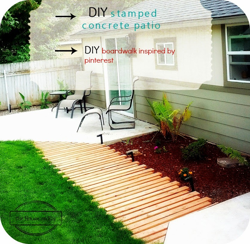 Our DIY Stamped Concrete Patio And Boardwalk