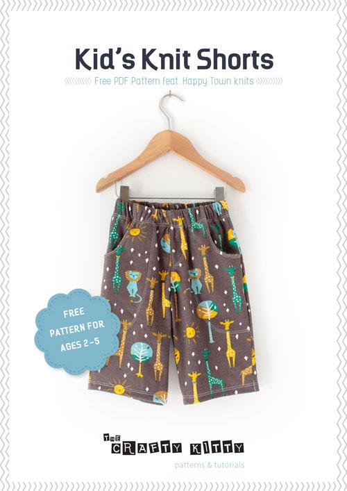 Birchfabrics Free Pdf Pattern Knit Shorts For Kids By The
