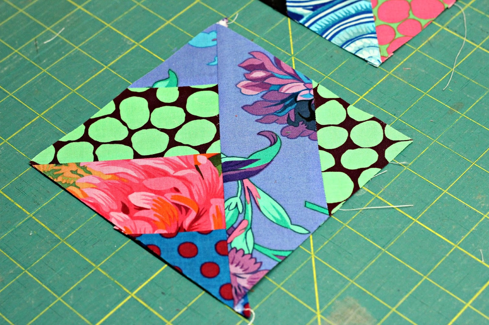 FlyAwayHome: Three Dudes Quilt block - in progress : easiest quilt ever - Adamdwight.com