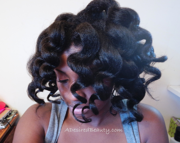 Using The Caruso Steam Rollers On Natural Ethnic Hair