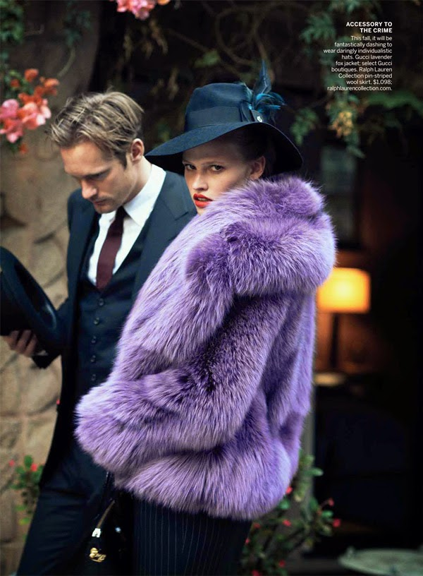 Lara Stone and Alexander Skarsgård by Peter Lindbergh for Vogue US (July 2011) | Ses Rêveries