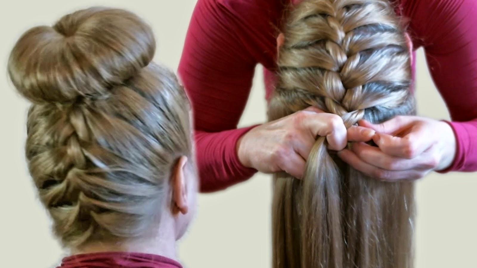 Плетение кос с помощью карандаша видео