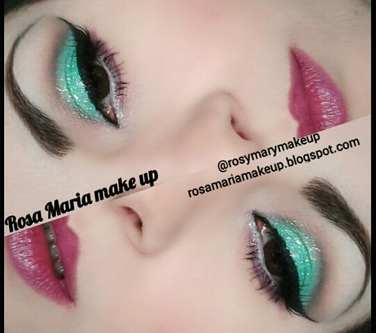 Make up verde acqua