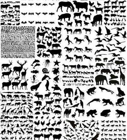 مجموعة ضخمه  من الحيوانات الفيكتور EPS