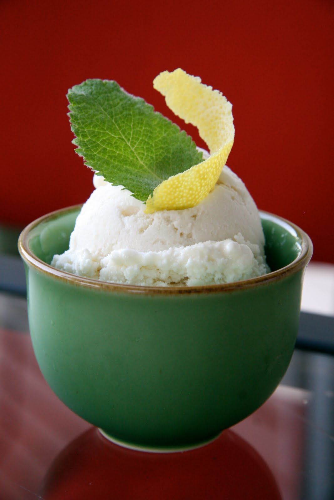 Lemon Mint Ricotta Gelato | Local Food Rocks