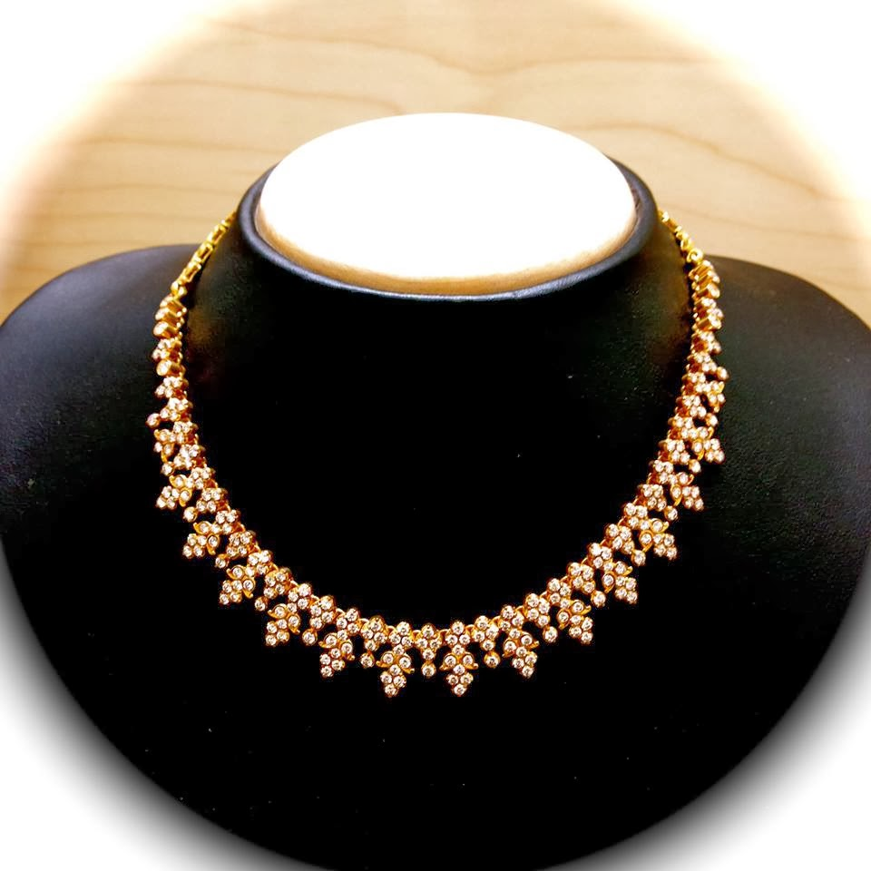 Indian Simple Gold Necklace Designs Simple Indian Diamond ...