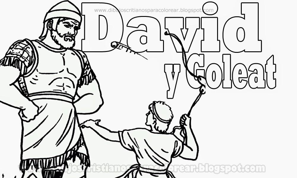 David y Goliat para colorear - Dibujos Cristianos ~ Dibujos ...