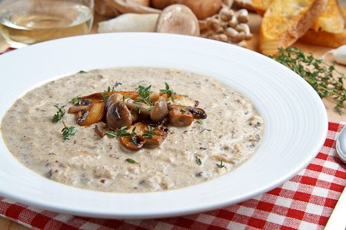 Creamy Mushroom and Roasted Cauliflower Soup on Closet Cooking