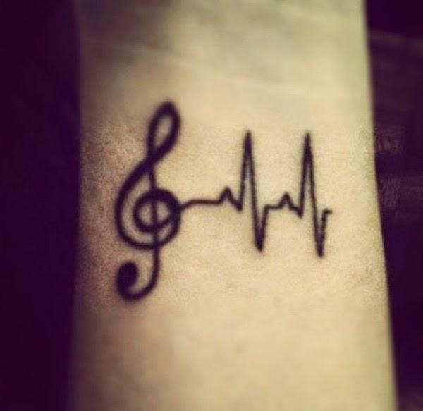 Tatuaje de Música pequeño