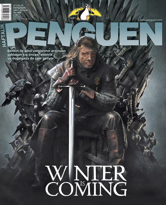 Penguen Dergisi 27 eylül Kapak Resmi Winter is Coming