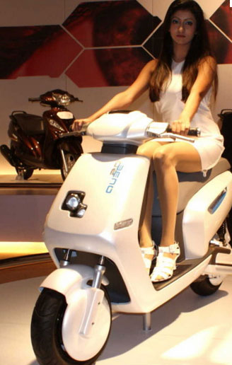 tvs qube hybrid scooter
