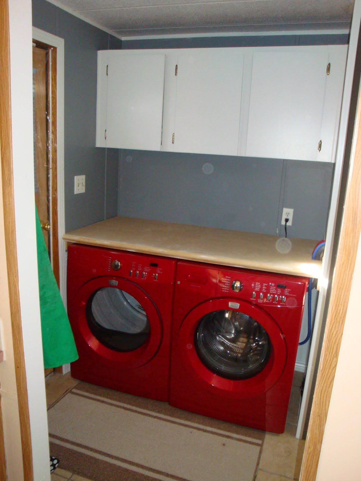 storage work space in the laundry room which has been really great