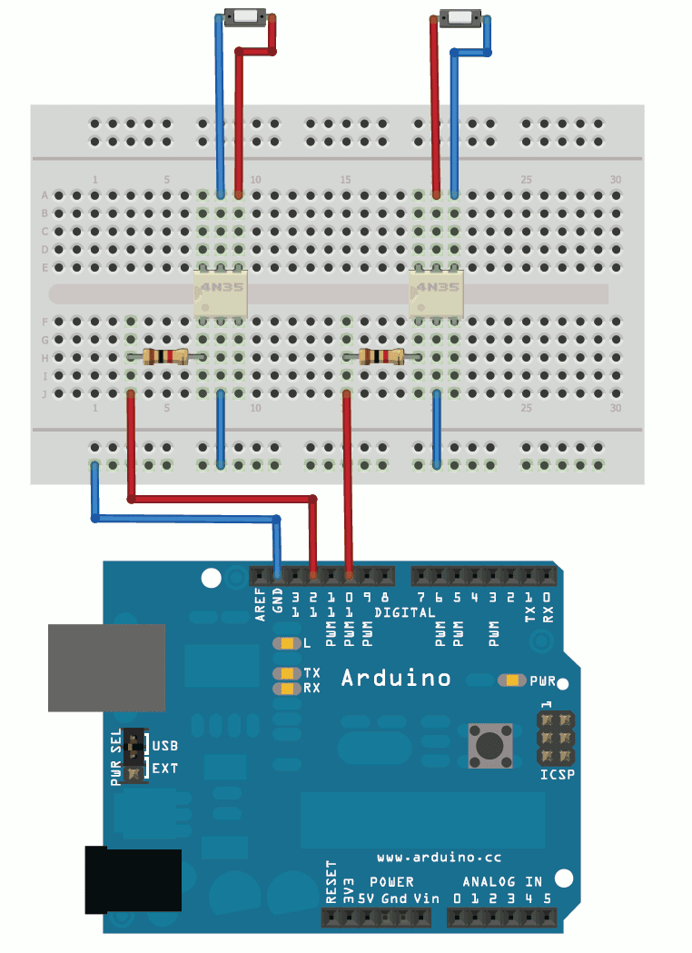 Rotary Encoder Using Arduino Hardware Interrupts