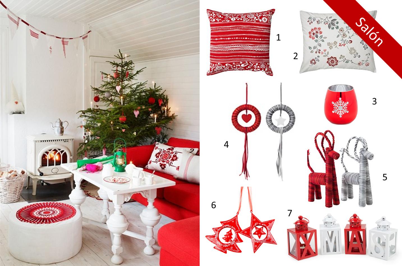 Decoraci n f cil inspiracion para una navidad en rojo y for Decoracion hogar navidad 2014