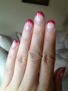 Sparkly Pink French Manicure