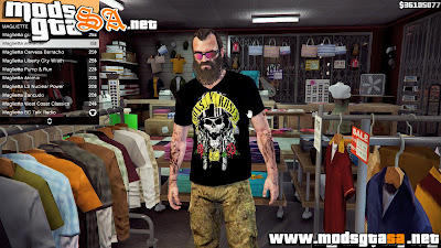 V - Camisa do Guns N' Roses para Trevor GTA V PC