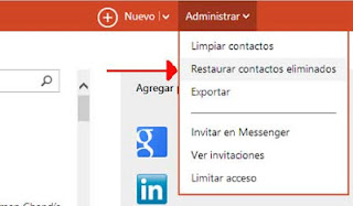 contactos en outlook
