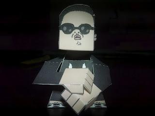 PSY Oppa Gangnam Style Papercraft