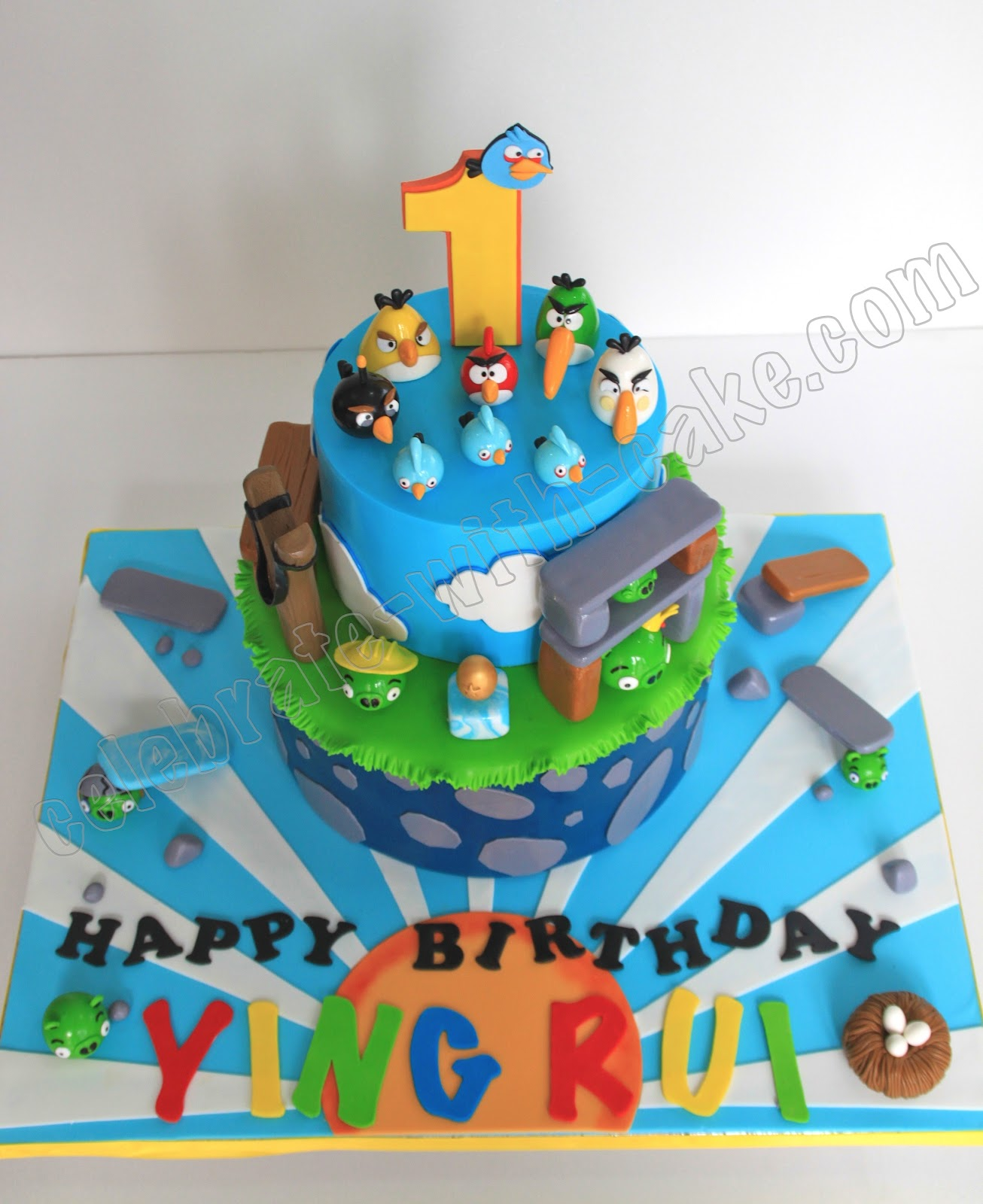 Celebrate with Cake Angry Birds Cake