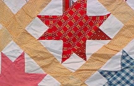 Civil War Quilts: Stars in a Time Warp 1: Multi-colored Turkey Red ... : cotton warp quilt - Adamdwight.com
