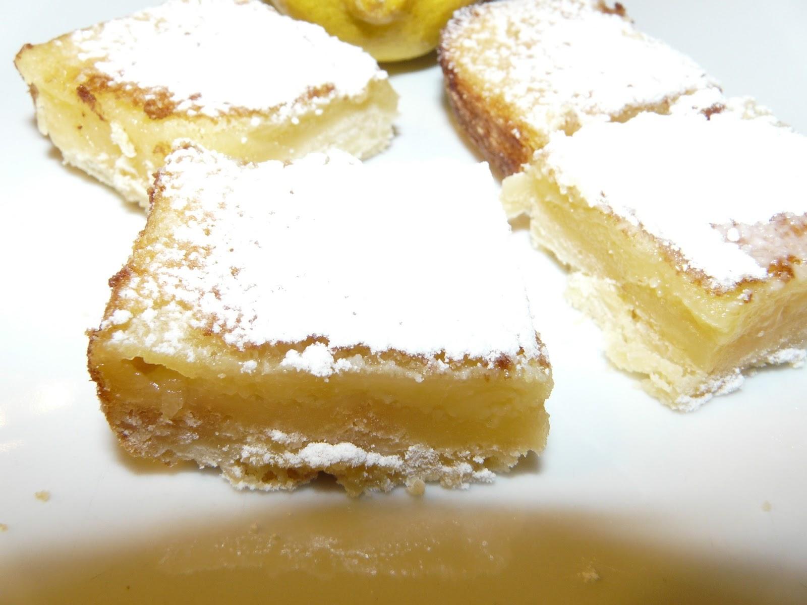 Lemon Bars de Martha Stewart (Carrés au citron)